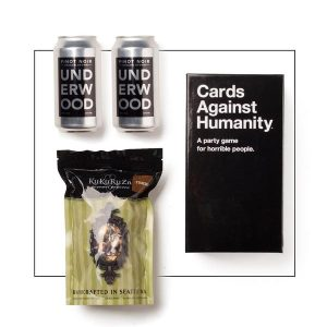 Cards Against Humanity game canned wine gift