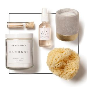 Herbivore Spa and Paddywax Candle gift for her