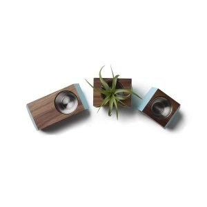 walnut box car planter set