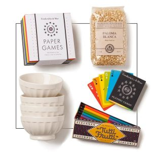family game night popcorn gift set