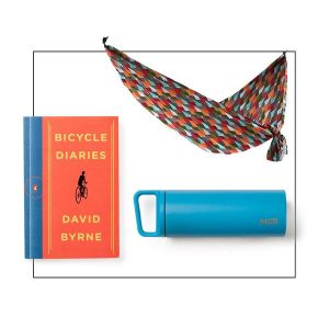 outdoor multicolored hammock gift set