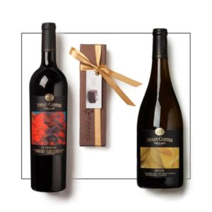 Brian Carter Cellars red wine & white wine with caramels gift