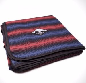 Striped camping blanket