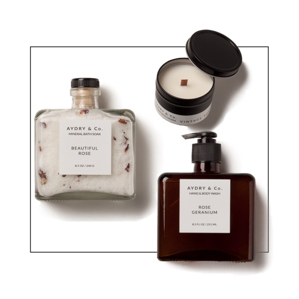 AYDRY & Co. rose spa products gift