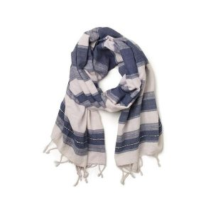 Handmade Indian Khadi cotton scarf