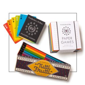 colored pencil paper games gift