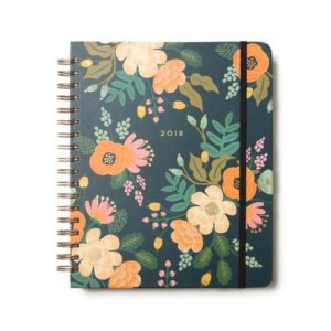 Floral daily planner notebook