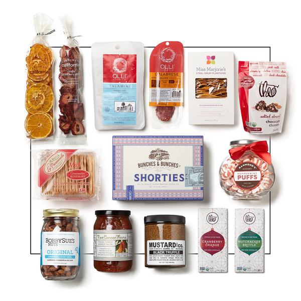 festive holiday food selection gift