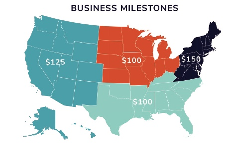What to spend on gifts for business milestones by region