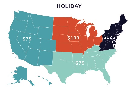 What to spend on holiday business gifts by region